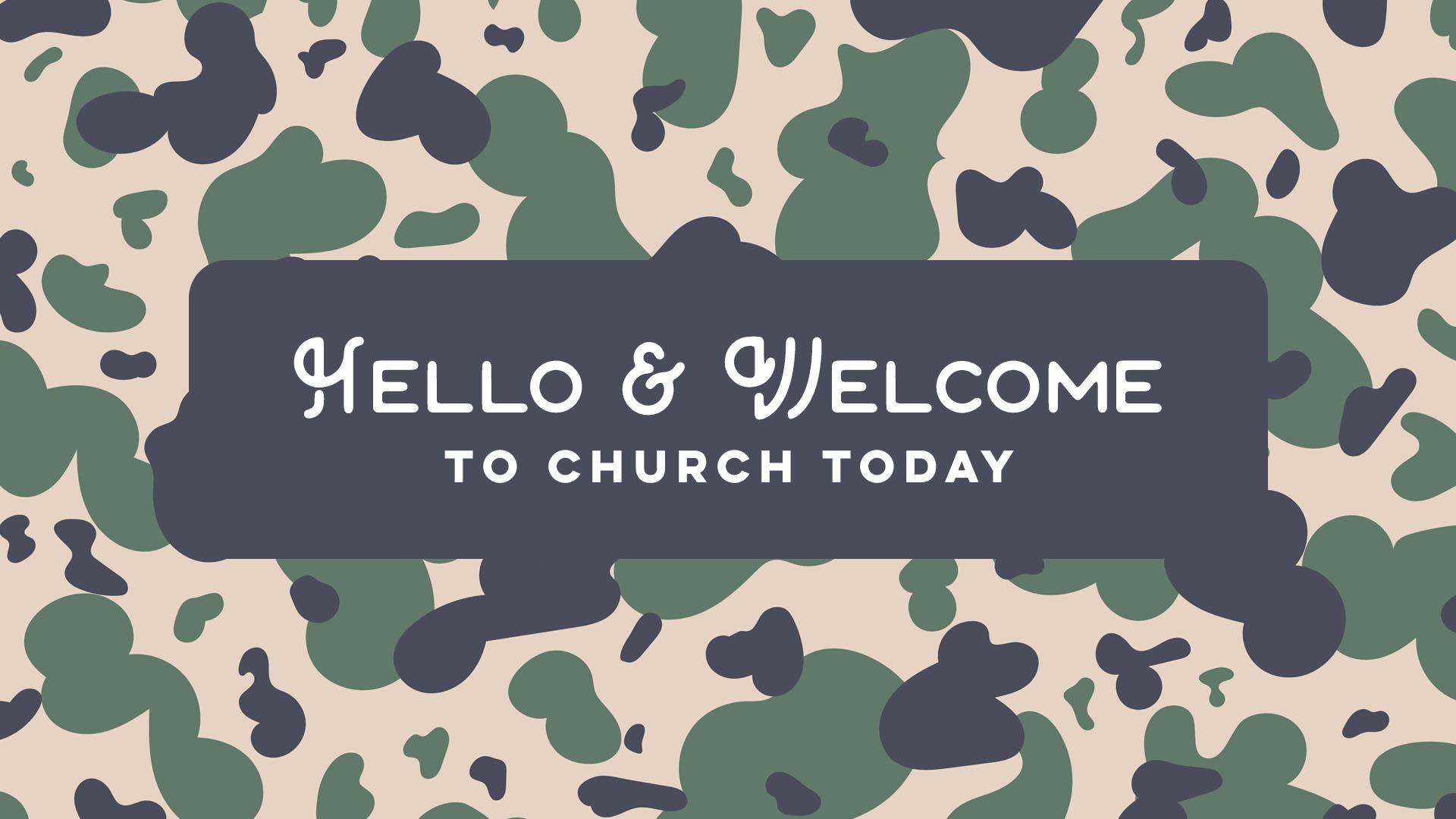 Camo Church Graphics Style
