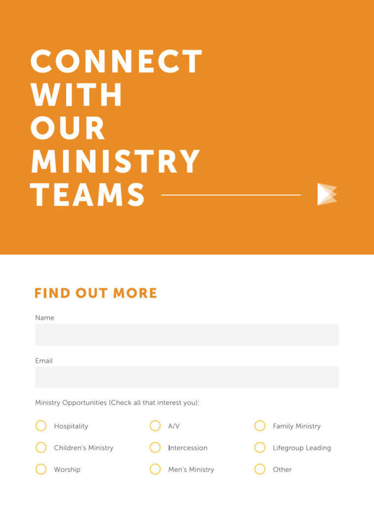 7 Perfect Church Connection Card Examples Pro Church Tools