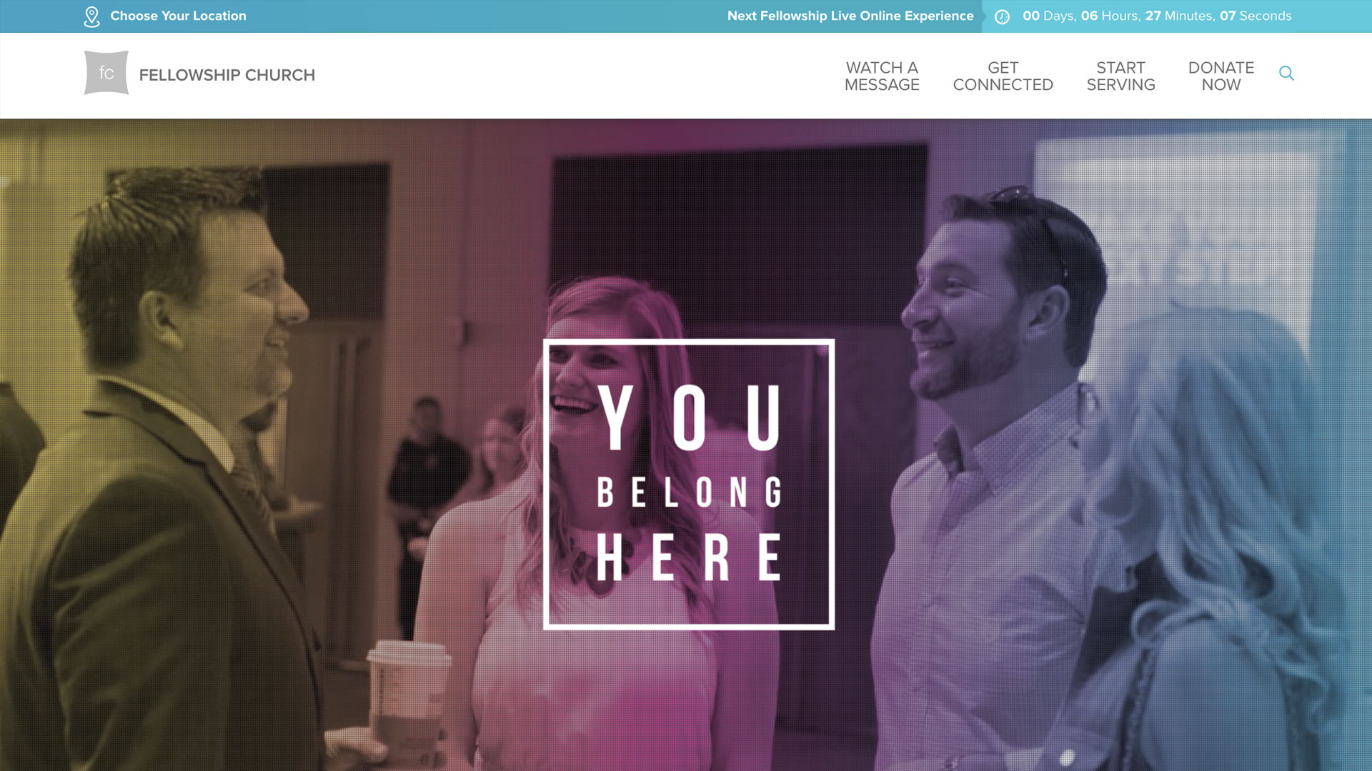 Church Websites Example - Fellowship Church - https://fellowshipchurch.com/