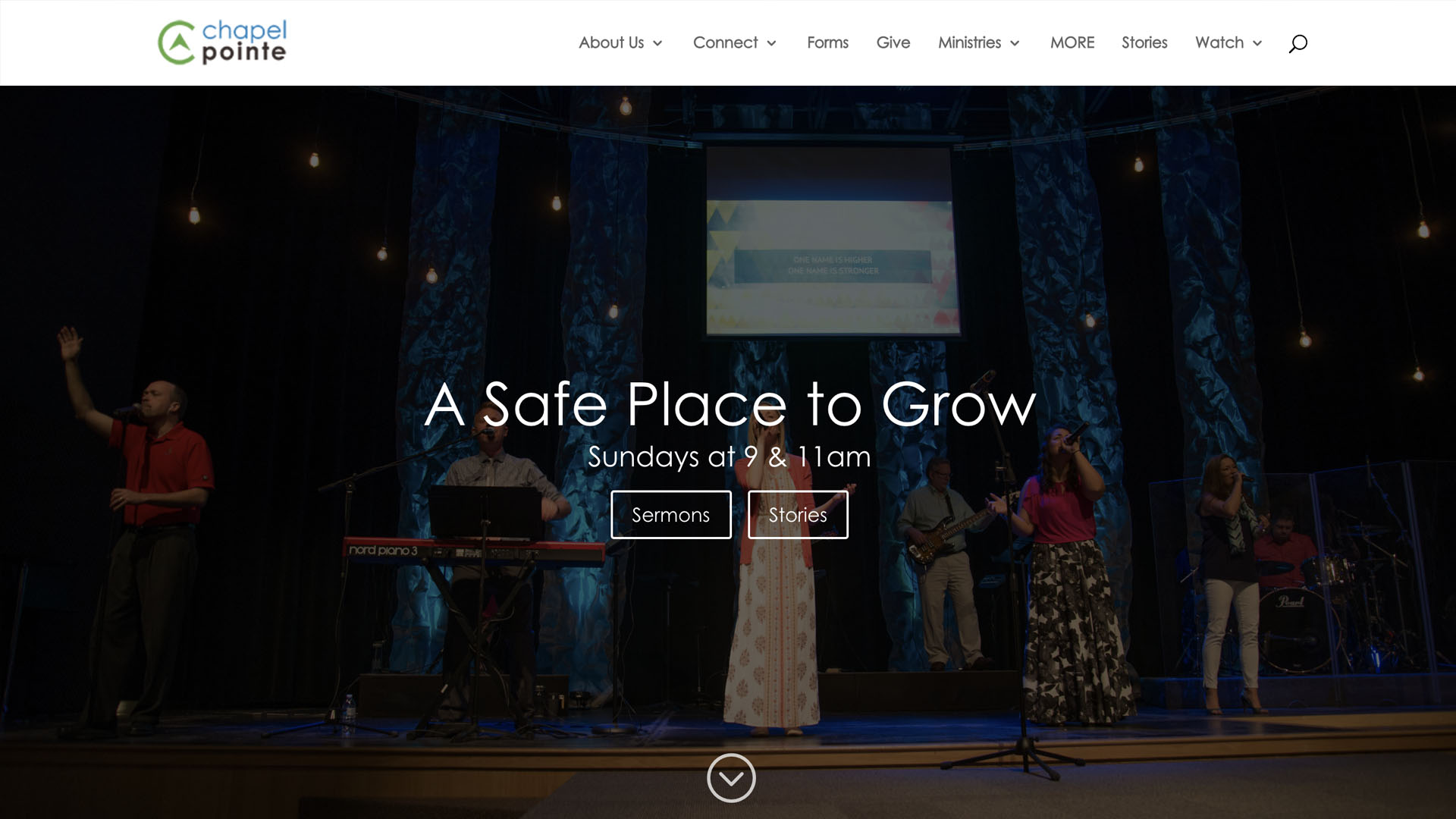 Church Websites Example - Chapel Pointe - https://chapel-pointe.org/