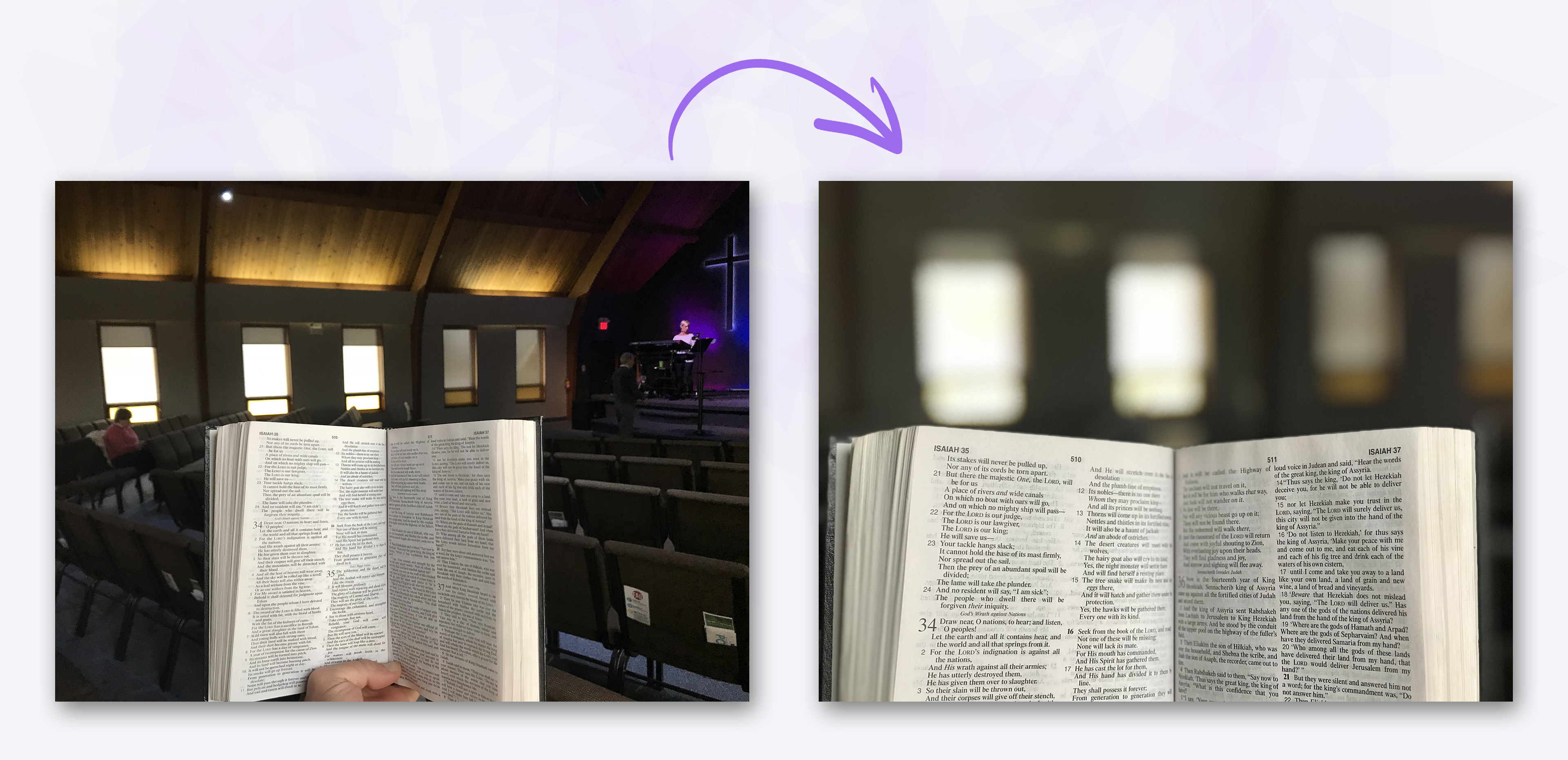 Before & After - Bible Church Photos